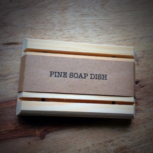Pine Wood Self Draining Soap Dish