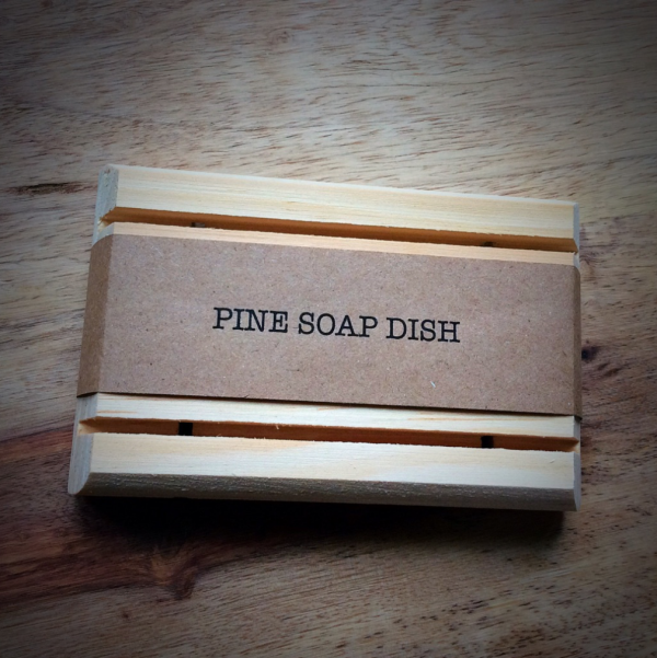 Pine Wood Self Draining Soap Dish