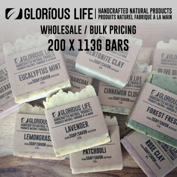 Bulk Order - Soap Bars - Wholesale Pricing - 200 x 113g Soap Bars - Handcrafted Natural Ingredient