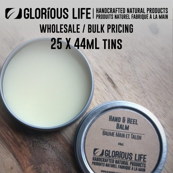 Bulk Order - Hand & Heel Balm - Wholesale Pricing - 25 x 44mL Tins - Handcrafted Natural Ingredient