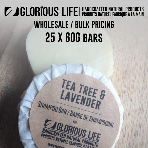 Bulk Order - Lavender Tea Tree Shampoo Bars - Wholesale Pricing - 25 x 60g Soap Bars - Handcrafted Natural Ingredient Soap