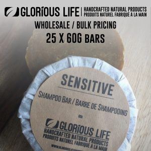 Bulk Order - Sensitive Shampoo Bars - Wholesale Pricing - 25 x 60g Soap Bars - Handcrafted Natural Ingredient Soap