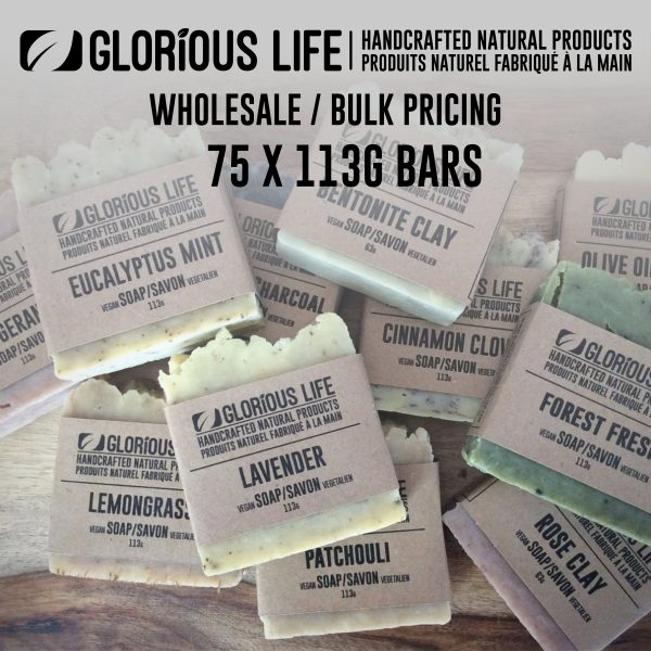 Bulk Order - Soap Bars - Wholesale Pricing - 75 x 113g Soap Bars - Handcrafted Natural Ingredient Soap