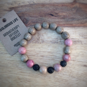 Glorious Life Wood & Stone Diffuser Bracelet
