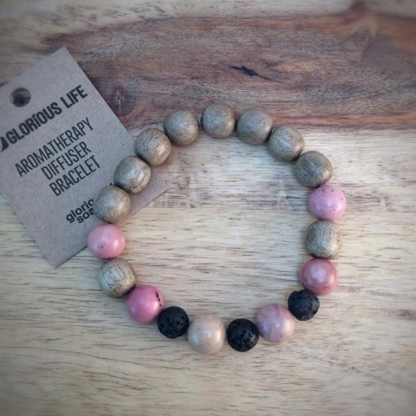 Glorious Life Wood & Stone Diffuser Bracelet